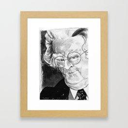 Northrop Frye (literary critic) Framed Art Print