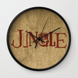 Jingle + Burlap Wall Clock