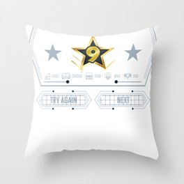 Level 9 Unlocked 9Th Gamer Birthday 2009 9 Year Old Shirt Throw Pillow