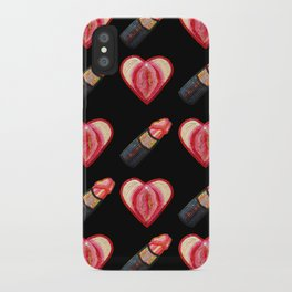 Love and Lipstick iPhone Case