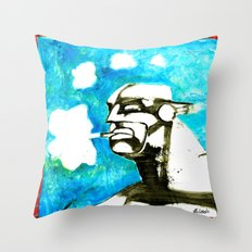 SMOKER TWO (from Gotham City) Throw Pillow