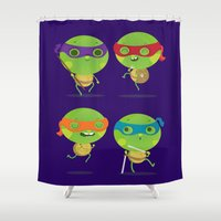turtles Shower Curtains featuring Turtles by Maria Jose Da Luz