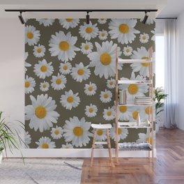 Daisy Flower pattern Wall Mural