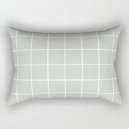 Gray Grey Sea Salt Grid Pattern Line Stripe Rectangular Pillow