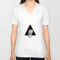all seeing eye V-neck T-shirts featuring All-Seeing Eye by Carlo Vargas