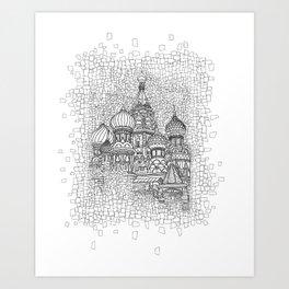 Red Square Art Print