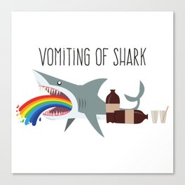 Vomiting of shark Canvas Print