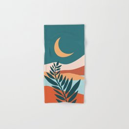 Moonlit Mediterranean / Maximal Mountain Landscape Hand & Bath Towel