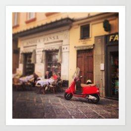 Italy-Vintage Vespa Photo Art Print