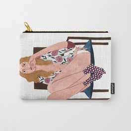 Girl Sitting on chair Carry-All Pouch