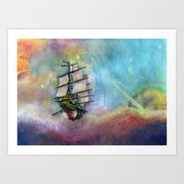 Mike's Tall Ship Art Print