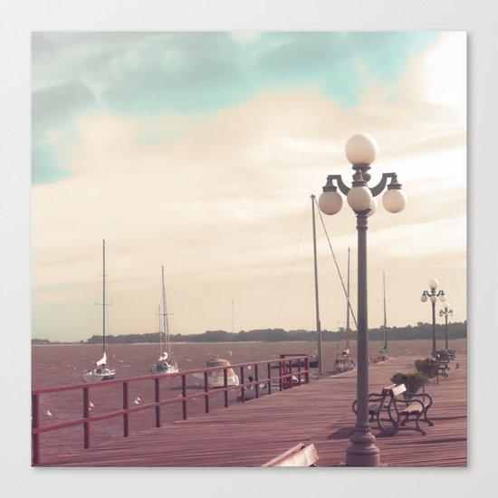 Harbor  (Vintage and Retro Photography)  Canvas Print