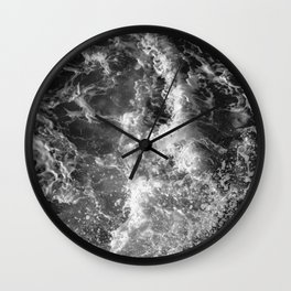 Ocean Glow - Black and White Nature Photography Wall Clock