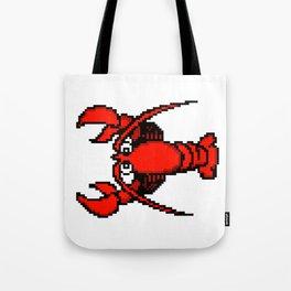 8-Bit Retro Pixel Art Lobster Tote Bag