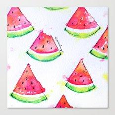 Watermelon Watercolor Print  Canvas Print