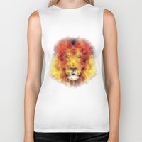 the lion king Biker Tanks featuring lion king by Ancello