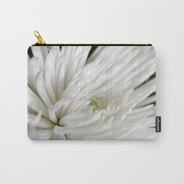 White Spider Mum Carry-All Pouch