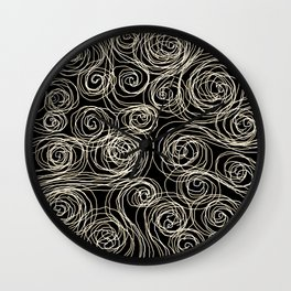 Currents of thought Wall Clock