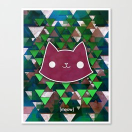 Triangle Meows Canvas Print