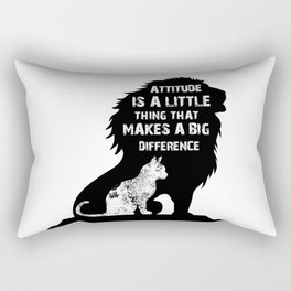 Attitude is a little thing that makes a big difference Rectangular Pillow