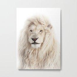White Lion Metal Print