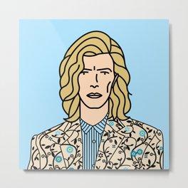 David Bowie at Glastonbury Metal Print