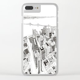 San Francisco 2 Clear iPhone Case