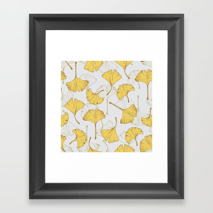Ginkgo Pattern Gerahmter Kunstdruck