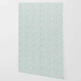 Leopard Animal Print Aqua Blue Gray Grey Spots Wallpaper