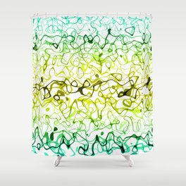 All Scribbly Like - gReeN Shower Curtain