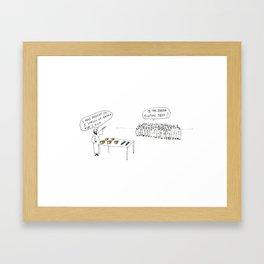 The Feeding of The 5000 Coeliacs Framed Art Print