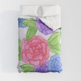 Watercolor Flowers Comforters