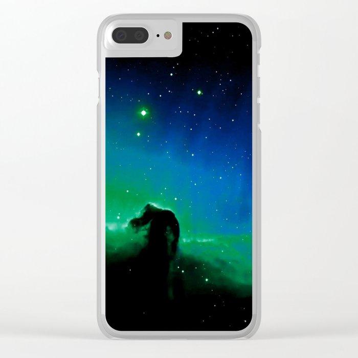 Horsehead nEBula. Blue & Green Clear iPhone Case