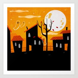 A Haunting We Will Go Art Print