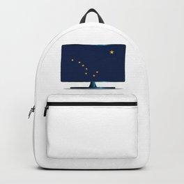 Alaska Flag TV Backpack