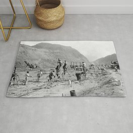 Panama Canal construction Rug