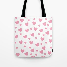 Hearts pattern - pink Tote Bag