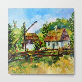 House in the village # 3 Metal Print