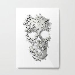 Simple Skull Metal Print