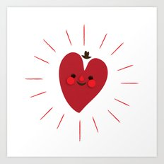 Happy Heart Art Print