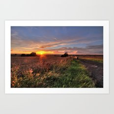 Tamworth Sunset Art Print