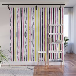 Abstract Striped Pattern Wall Mural