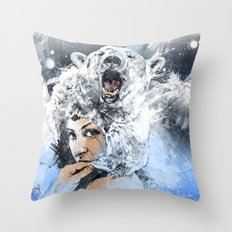 Arctic Tears Throw Pillow
