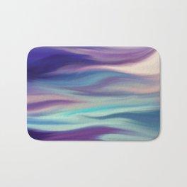 Painted digital silk texture blue colors Bath Mat
