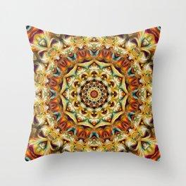 Flower Of Life Mandala (Spring Garland) Throw Pillow