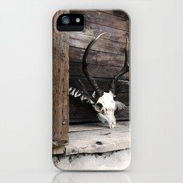 Golden Memoir, deer skull iPhone Case