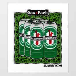 Sax Pack Art Print