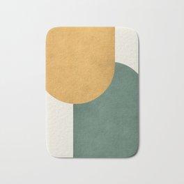 Halfmoon Colorblock 2 - Gold Green  Bath Mat
