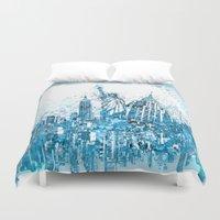 new york Duvet Covers featuring new york new york by Bekim ART
