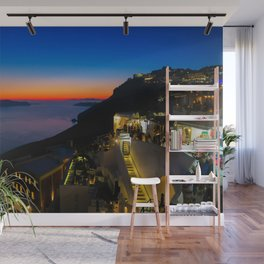 fira sunset-Santorini Wall Mural